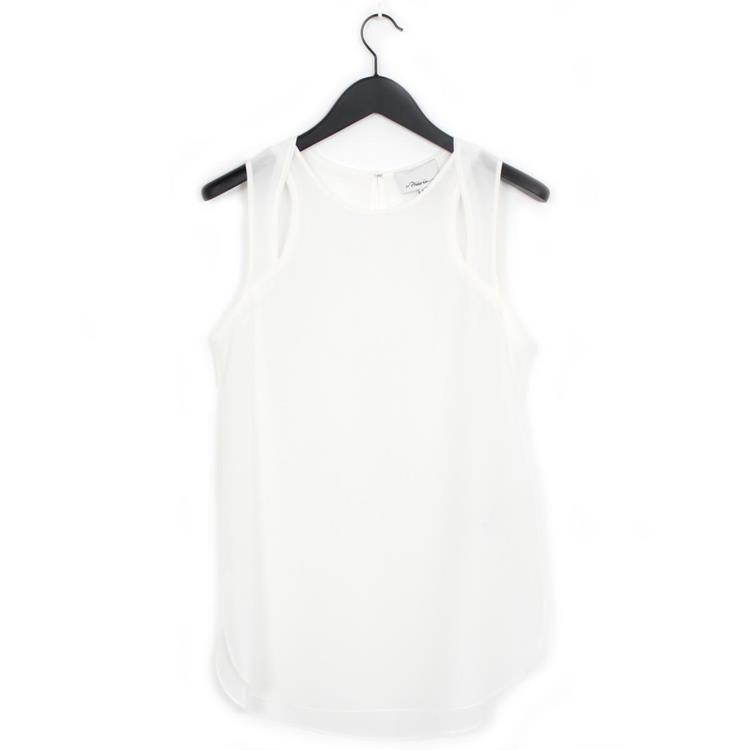 3.1 Phillip Lim tank top with cutouts ant. white