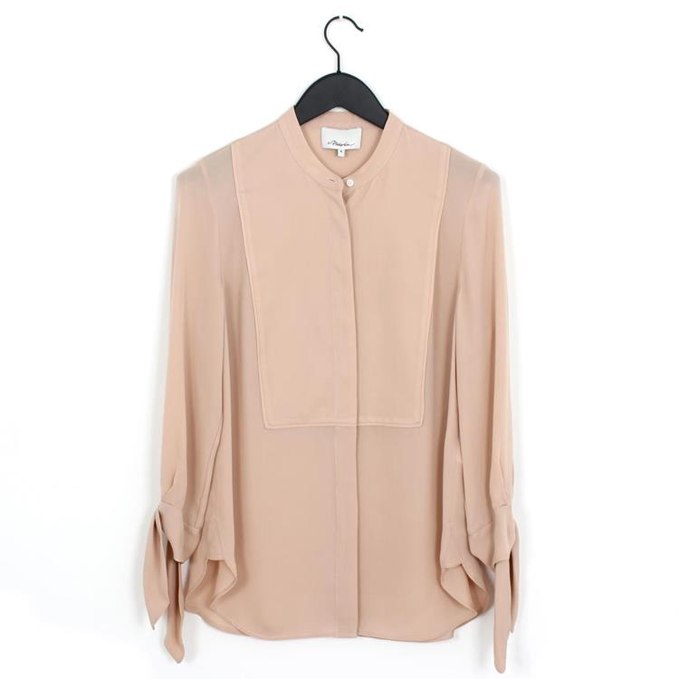 3.1 Phillip Lim blouse with tied sleeves blush