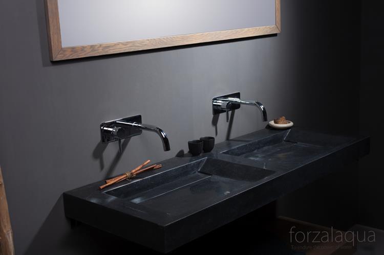 Wastafel 140 Cm : Forzalaqua wastafel bellezza 140 x 51 cm graniet gezoet