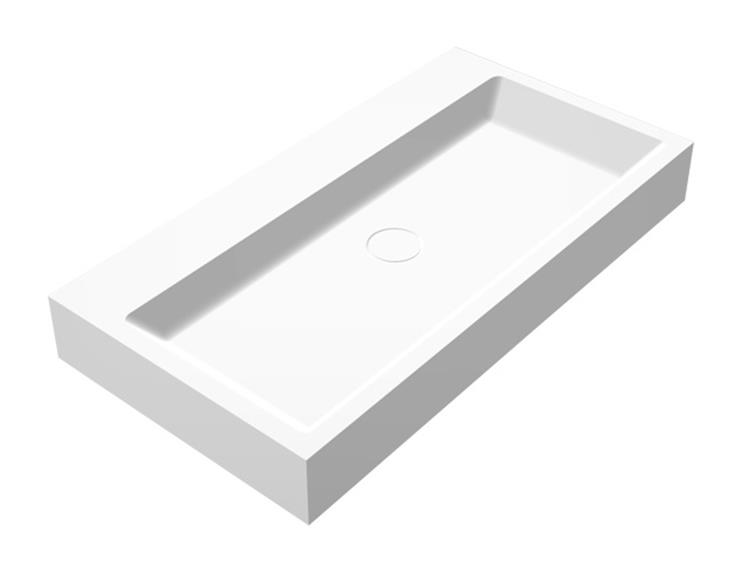 Lafôr wastafel solid surface 80 x 42 cm