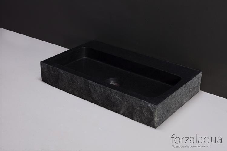 Wastafel 50 Cm : Forzalaqua wastafel taranto cm graniet gekapt
