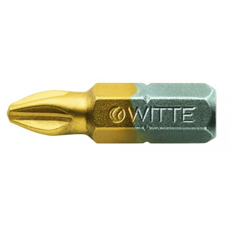 WITTE schroefbit TIN 1/4 25 mm 10 st. PZ1