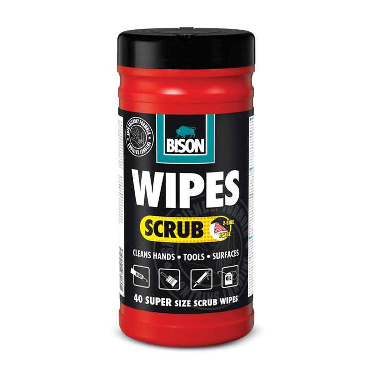 BISON wipes scrub reiniginsdoekjes 40 st.