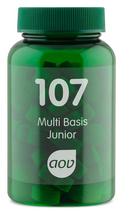 107 Multi Basis Junior (60 kauwtabletten)