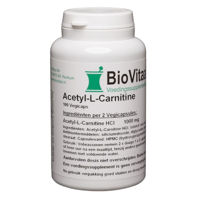 Acetyl-L-Carnitine 500 mg (100 capsules)