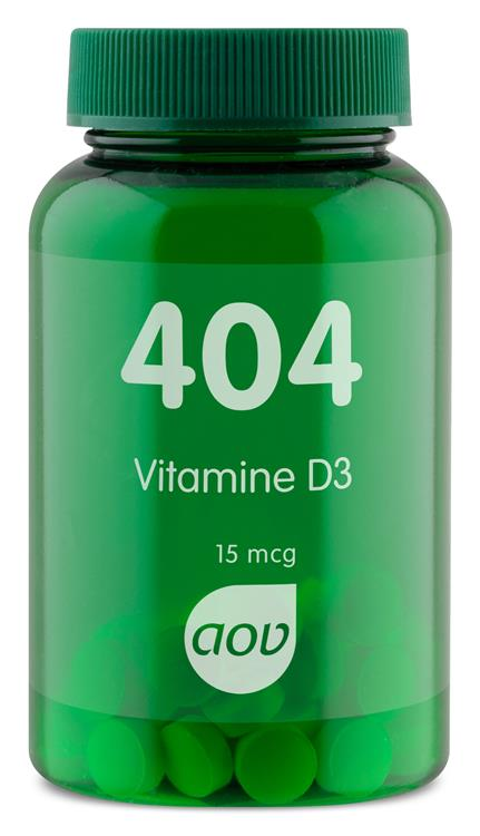 404 Vitamine D3 15 mcg (60 tabletten)