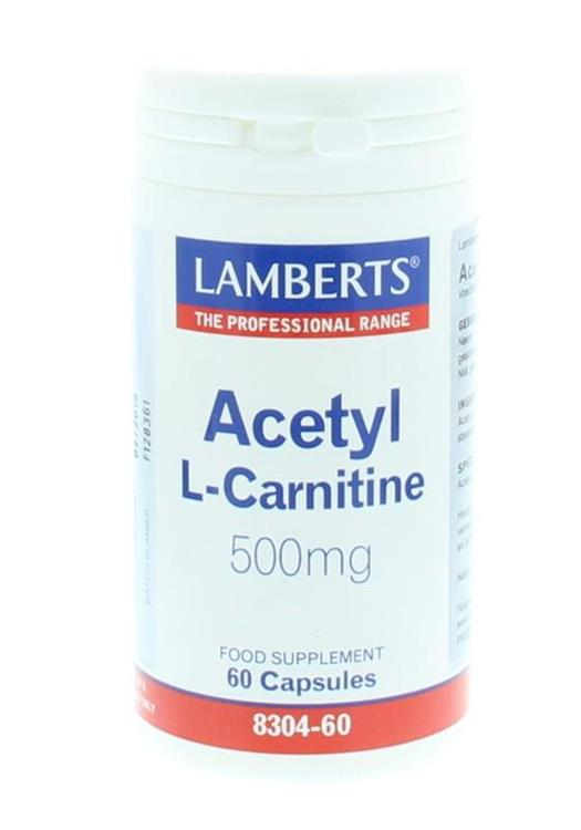 Acetyl L-Carnitine 500 mg (60 capsules)
