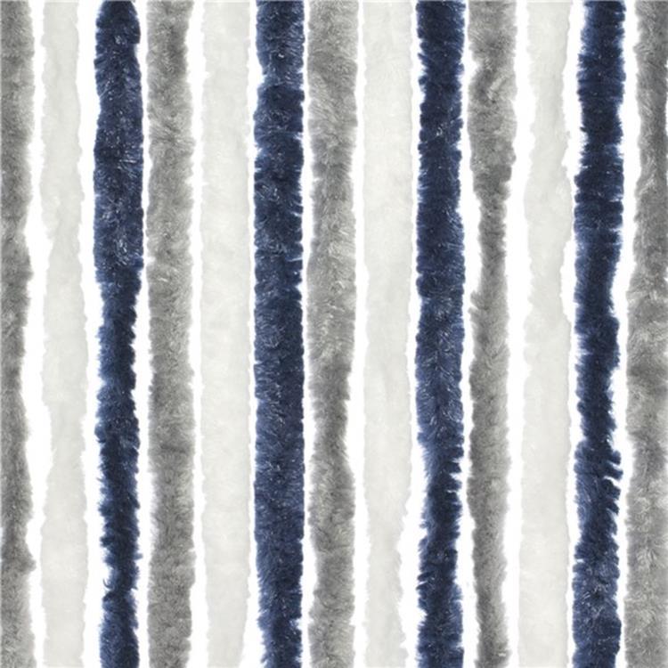 travellife chenille gordijn grijsblauwwit