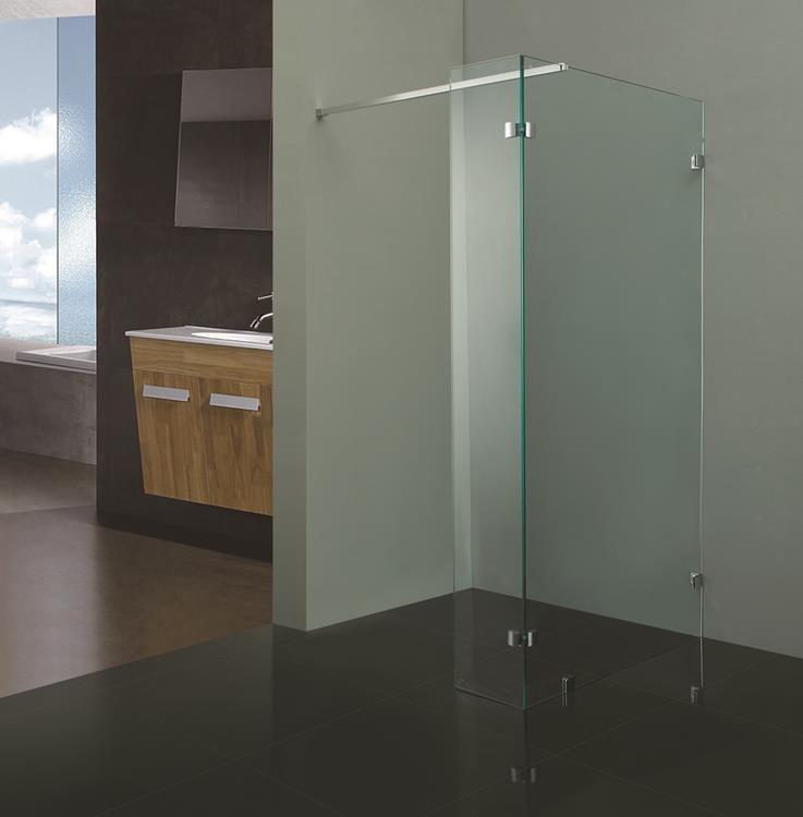 Douchewand Glas 90 Cm.Douchewand Profielloos 100 Cm Zijwand 30 Cm