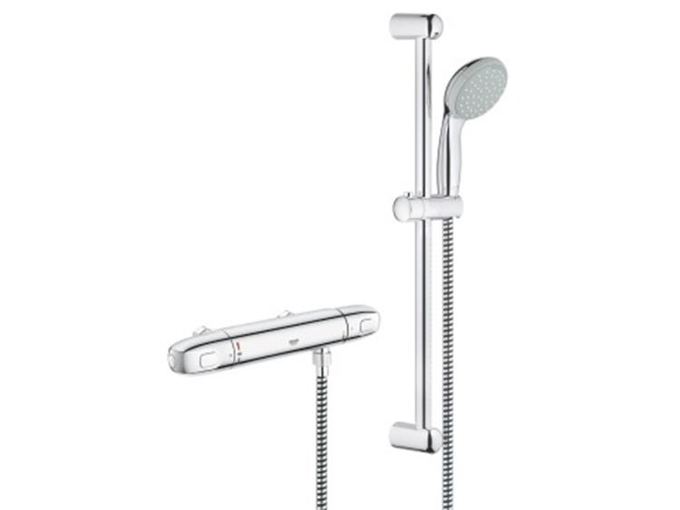 Grohe Grohtherm 1000 New Therm. + Glijstangset (HOH=12)