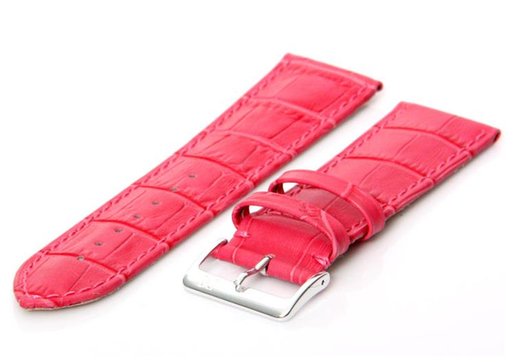 Horlogeband 24mm roze XL