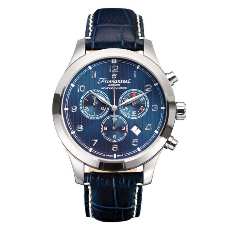 Fromanteel horloge Amsterdam Chrono Nautique Blue