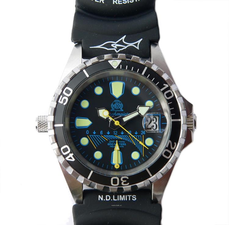 Tauchmeister 1937 horloge Profi Combat Diver Fly Back T0173 PU