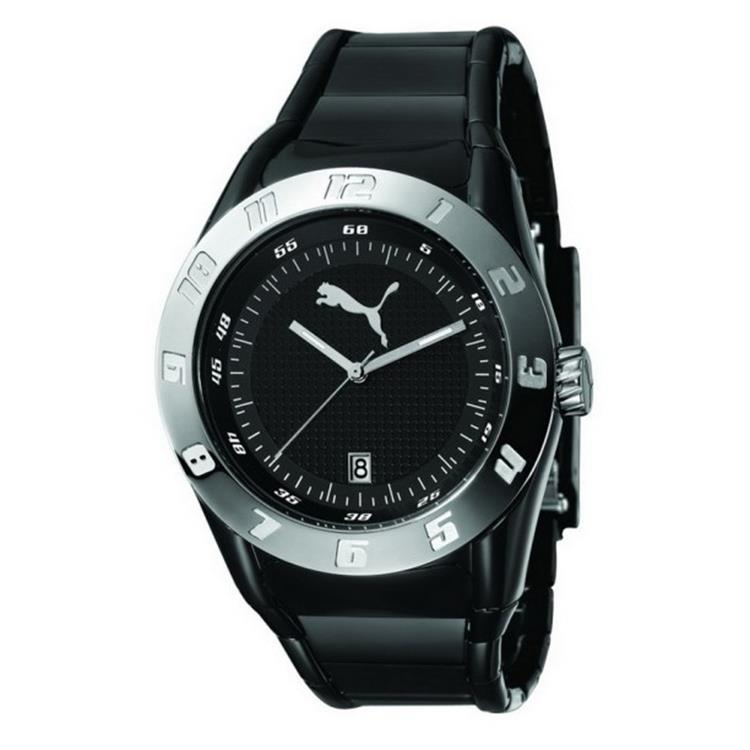 Puma horloge Disc Injection - L Black Silver PU910661005
