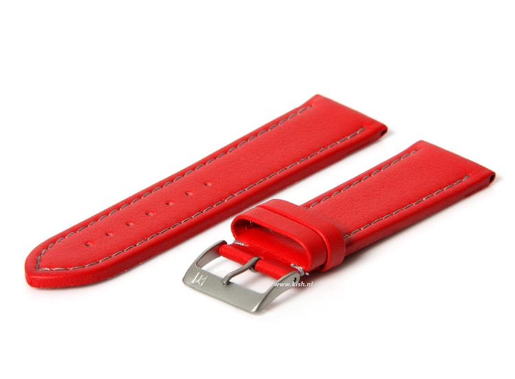 Horlogeband 24mm (waterproof) rood