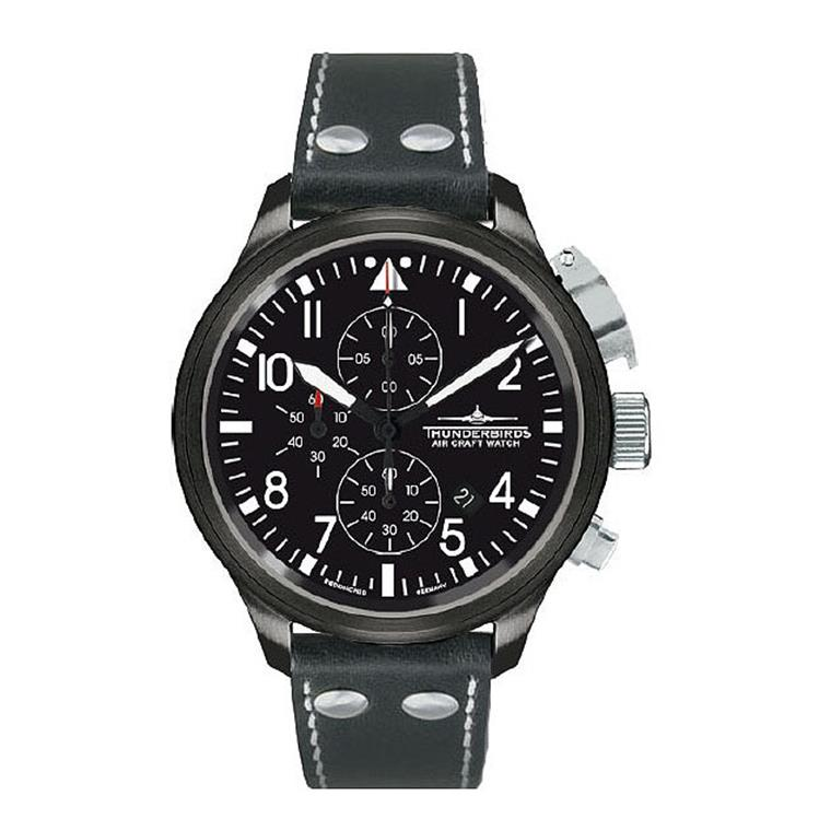 Thunderbirds horloge Black Edition XL Chrono 1088-TE09S