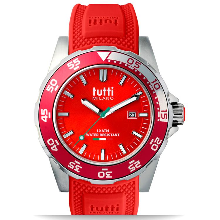 Tutti Milano horloge TM900-RE red horloge 42,5mm