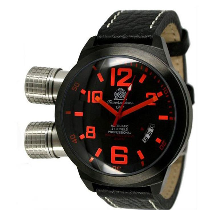 Tauchmeister 1937 horloge U BOOT XL IP black T0197