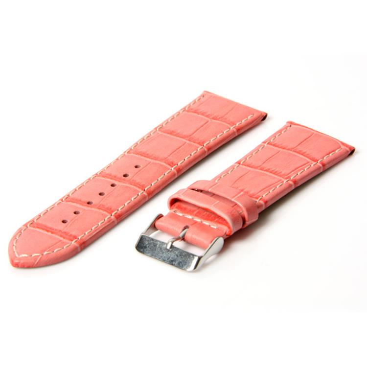 Horlogeband 36mm croco roze