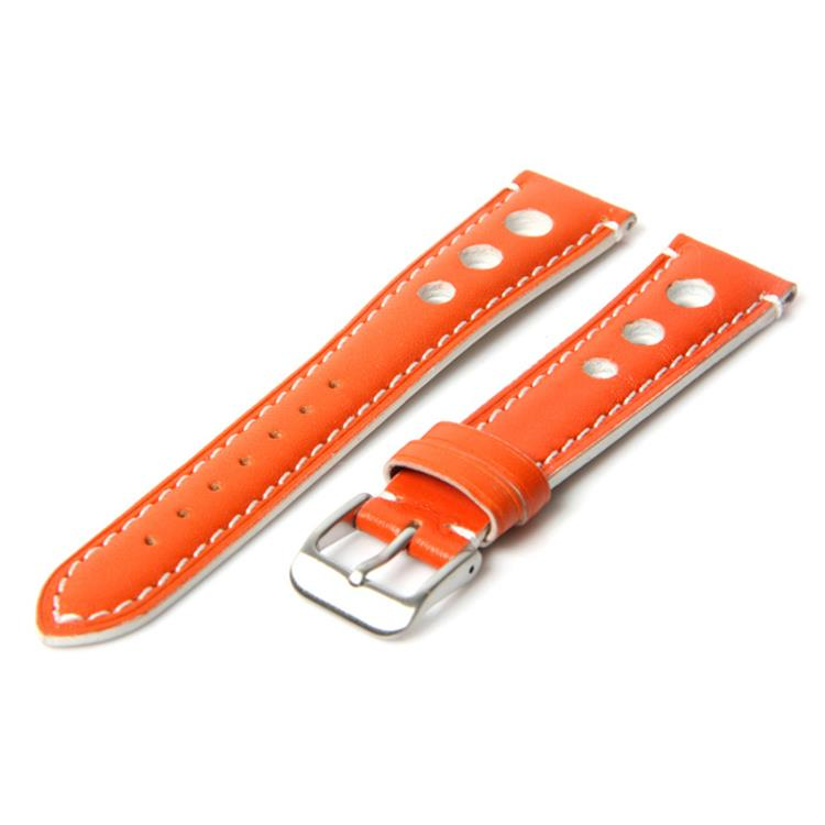Horlogeband 18mm racing oranje