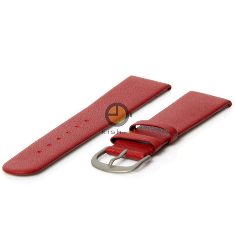 Danish Design horlogeband 18mm leer rood