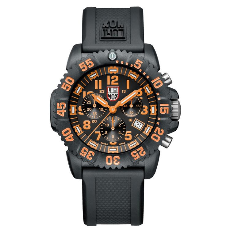 Luminox horloge A.3089 Navy Seal chrono orange