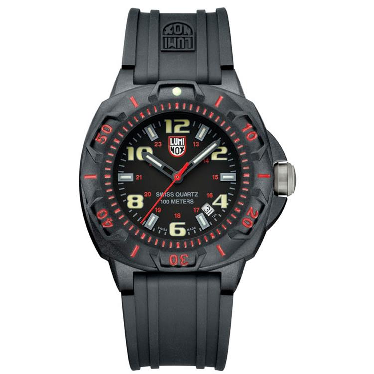 Luminox horloge A.0215.SL Sentry black red