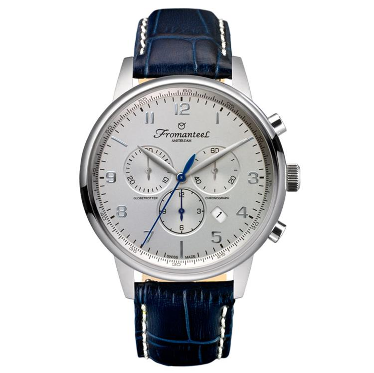 Fromanteel horloge chrono sunray cream marine blue