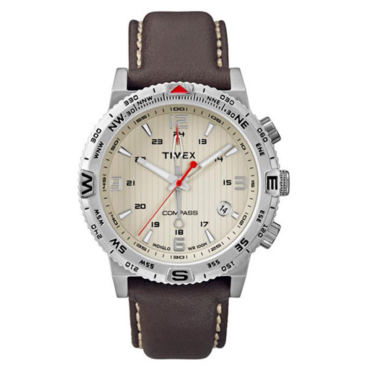Timex horloge T2P287 IQ Compass brown