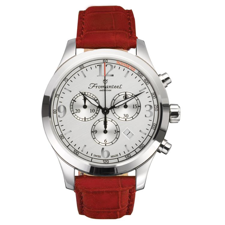 Fromanteel horloge 85 Classic silver red