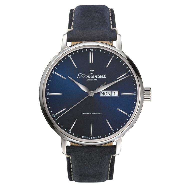 Fromanteel horloge generations day date blue vintage blue