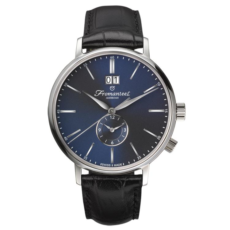 Fromanteel horloge generations Twin Time blue black