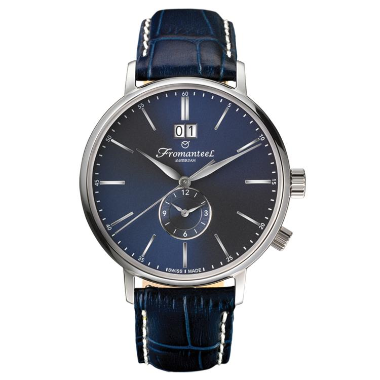 Fromanteel horloge generations Twin Time marine blue