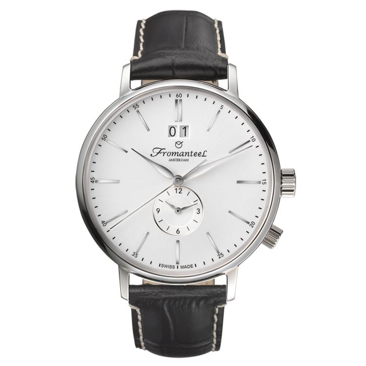 Fromanteel horloge generations Twin Time white black