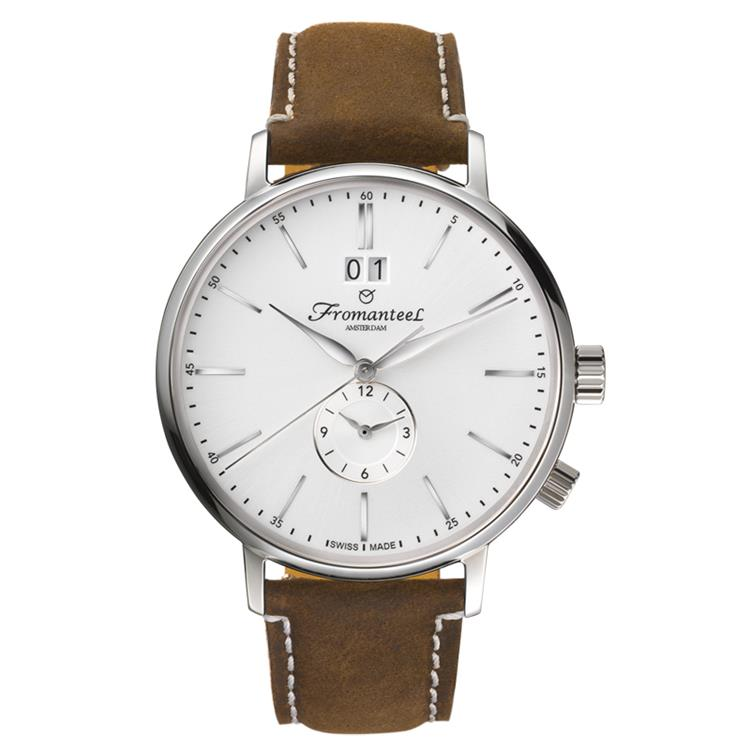 Fromanteel horloge generations Twin Time white vintage