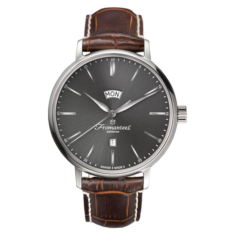 Fromanteel horloge generations Big Day dark grey brown