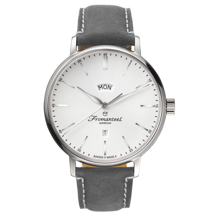 Fromanteel horloge generations big day white vintage grey