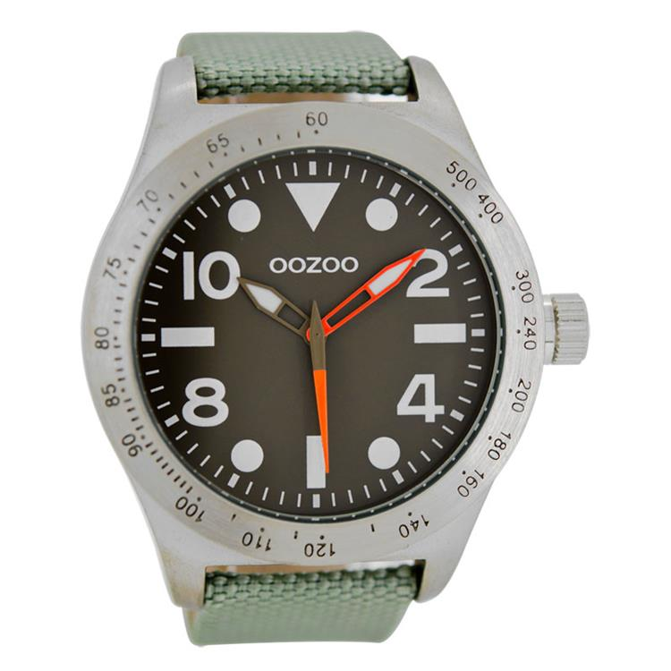OOZOO horloge C6750 olive grey (50mm)