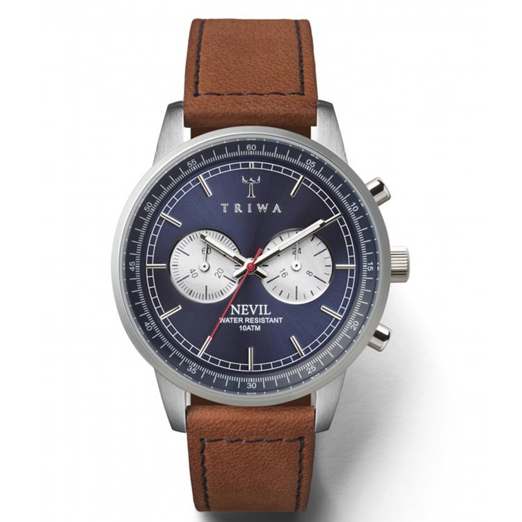 Triwa horloge Blue Steel Nevil brown Sewn Classic