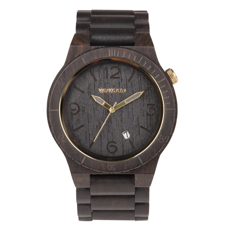 WeWOOD horloge Alpha Black Gold