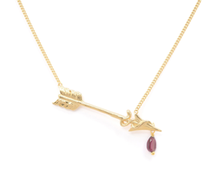 Wouters & Hendrix arrow necklace with rodolite