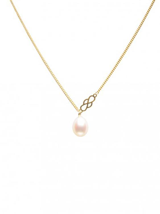 Wouters & Hendrix fine necklace with freshwater pearl pendant