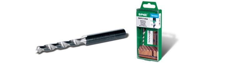 SPAX trappenboor voor Spax vlonderschroeven