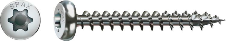 SPAX spaanplaatschroeven TORX cilinderkop 4 x 45 mm T20 WIROX Voldraad 200 st