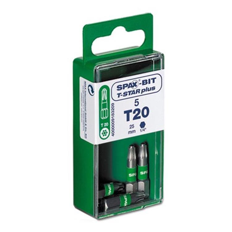 SPAX T-Star schroefbit blister 5 stuks T25 RVS 5 ST.