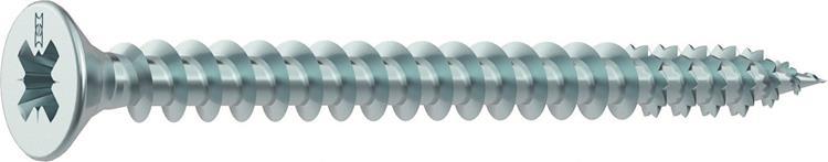 HECO FIX-PLUS schroeven POZI platkop 4,5 x 50 mm PZ2 VERZINKT Voldraad 200 ST.
