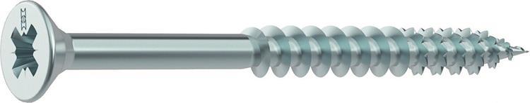 HECO FIX-PLUS schroeven POZI platkop 6 x 90 mm PZ3 VERZINKT Deeldraad 100 ST.