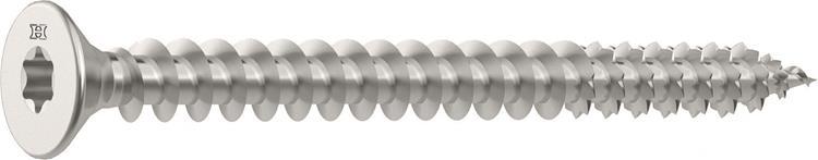 HECO FIX-PLUS schroeven TORX platkop 4 x 20 mm T15 RVS Voldraad 200 ST.
