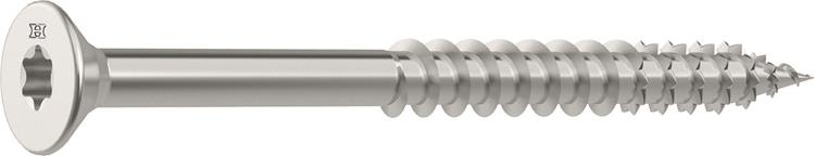 HECO FIX-PLUS schroeven TORX platkop 5 x 50 mm T25 RVS Deeldraad 200 ST.