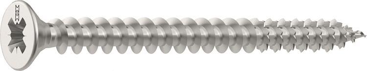 HECO FIX-PLUS schroeven POZI platkop 3,5 x 35 mm PZ2 RVS Voldraad 200 ST.